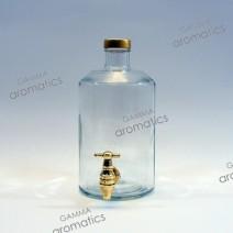 Φιάλη 1Lt (διάφανη) με μεταλλική χρυσή βρύση Image