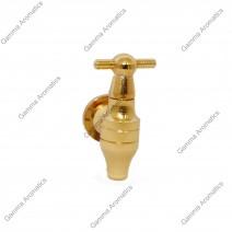 Μεταλλικό βρυσάκι γυάλας χρυσό Image