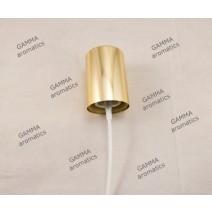 Χρυσή αντλία με άσπρο μπουτόν (Δ:3,2εκ.) Image